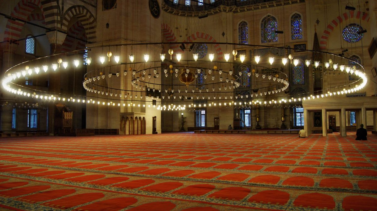 moskee in de nacht
